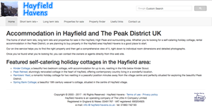 Hayfield Havens website