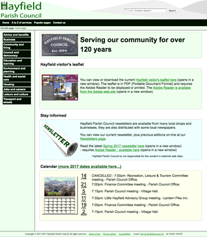 Hayfield Parish Council website