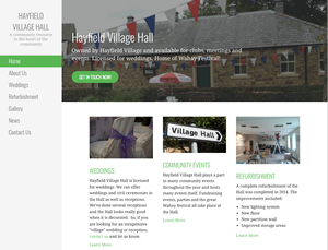 Hayfield Village Hall website