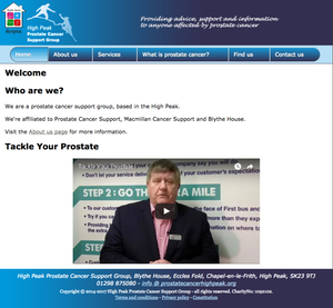 High Peak Prostate Cancer Support Group website