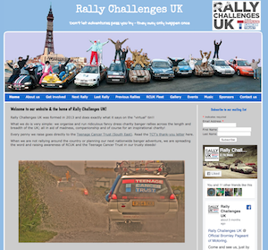 Rally Challenges UK website
