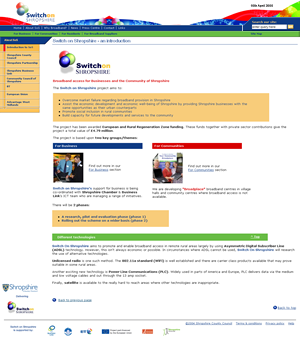 Switch on Shropshire website