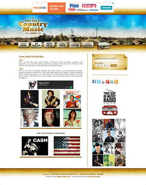 This Day In Country                         Music website